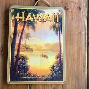 Wooden hawaii sign